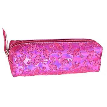 NUOLUX Estuche de Lápices Láser Bolsa de Cosméticos Bolsa Maquillaje Portatil de Flamingo Morado: Amazon.es: Hogar