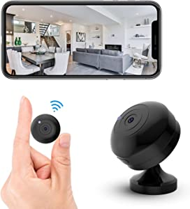 FECOMI Mini Spy Camera WiFi Hidden Cam 1080P Small Portable Wireless Nanny Cam w/Auto Night Vision/Motion Activated Alarm , Security Surveillance Cam Video /Audio Recording with Cell Phone App