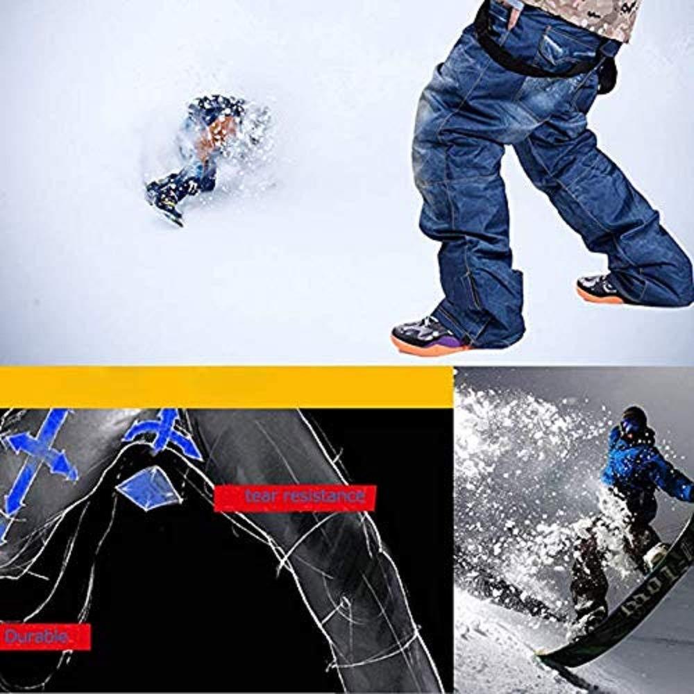 SHUIBIAN Pantaloni da Sci Sportivi da Uomo Pantaloni da Sci Pantaloni Impermeabili Traspiranti da Uomo Casual Bretelle Invernali allaperto