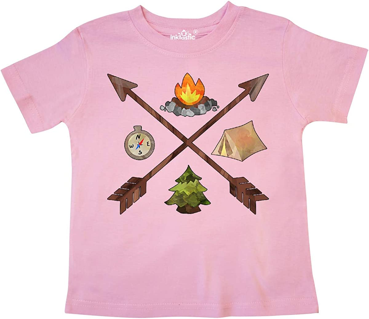 inktastic Camping Icons with Arrows Toddler T-Shirt