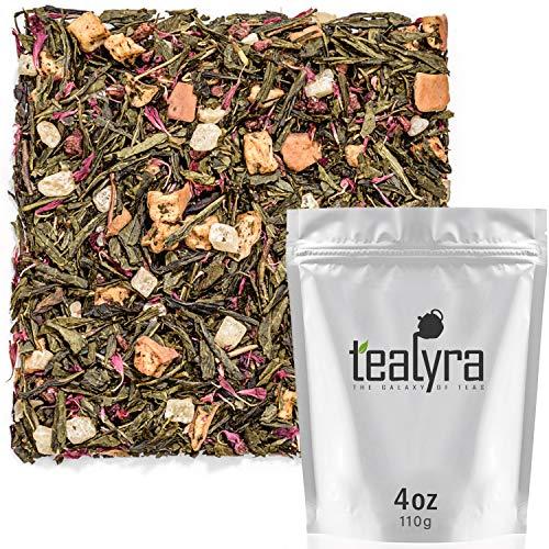 Tealyra - Raspberry Cream Green Loose Leaf Tea - Pineapple - Apple - Herbal Green Tea Blend - Caffeine Low - 112g (4-ounce)