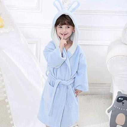 Batas de Baño para Niños y Niñas, con Capucha de Color ...