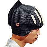 Leegoal Roman Knight Helmet Visor Cosplay Knit Beanie Hat Cap Wind Mask