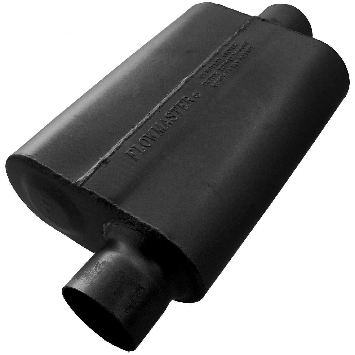 Flowmaster 943041 40 Delta Flow Muffler Aggressive Sound 3.00 Offset IN 3.00 Center OUT