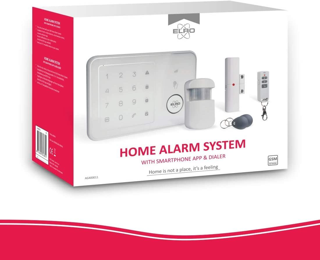 2-Pack pour syst/ème d/'alarme ELRO AG4000 Home ELRO AG40TA2 Alarm Tags