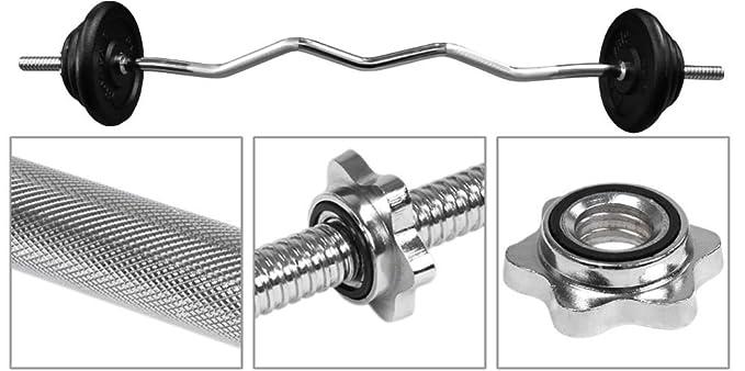BodyRip - Juego de barra de hierro fundido placa de peso 15 kg + 1