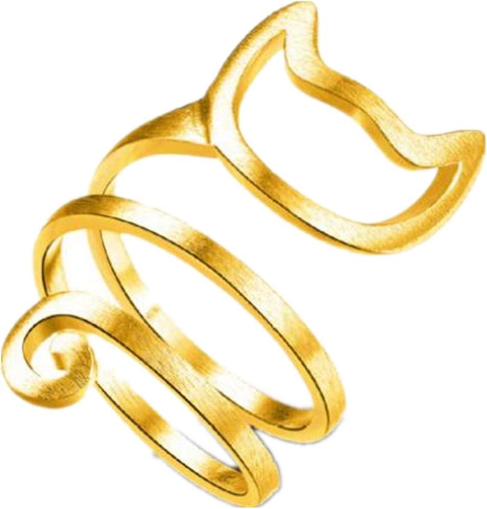 Lindo Gato Ring Mujeres Chicas Ajustable Anillos Joyería Regalo DAYLIN (Oro, Tamaño libre): Amazon.es: Iluminación