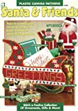 img - for Santa & Friends (Plastic Canvas Patterns) (House of White Birches 181027) book / textbook / text book
