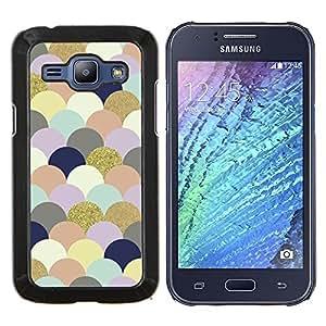 Stuss Case / Funda Carcasa protectora - Nubes Arte colorido de las burbujas de oro - Samsung Galaxy J1 J100