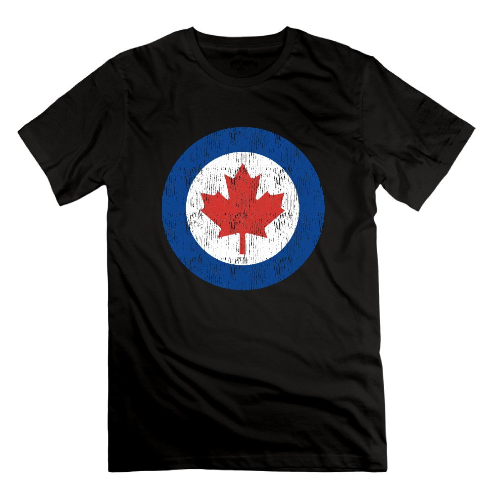 Mens Fashion Royal Canadian Air Force Cool Graphic Short Sleeve Cotton Tee Shirt Jersey