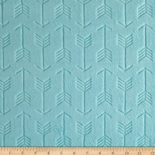 (Shannon Fabrics Shannon Minky Embossed Arrow Cuddle Saltwater Fabric By The Yard)