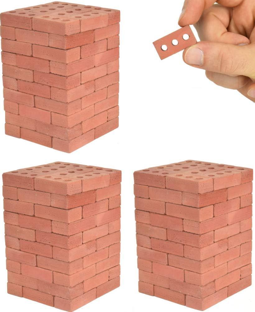 Acacia Grove Mini Red Bricks, 1:6 Scale (160 Pack)