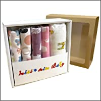 [B.H] 分娩祝福 100%棉 围巾 & 襁褓 礼品套装 婴儿 礼品 浴巾 样式 哺乳披肩
