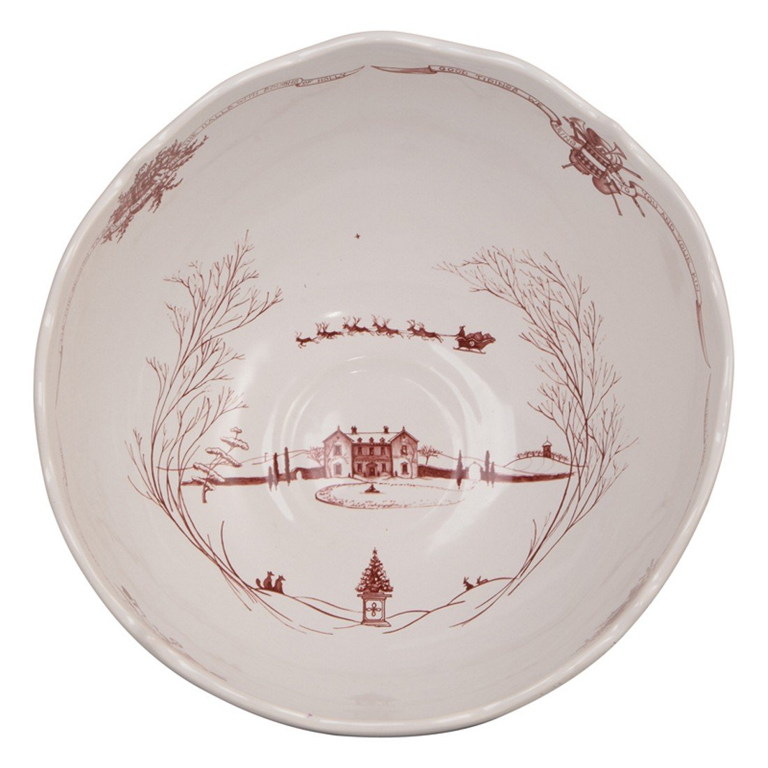 Amazon.com | Juliska Country Estate Center Piece Bowl - Christmas ...