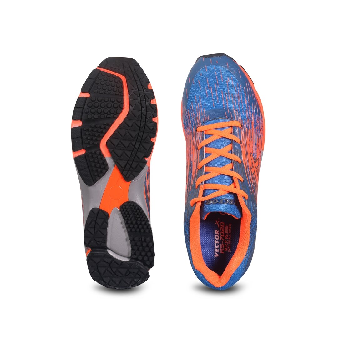 timeless design 54e9d 9d723 Vector X RS-7020 Running Shoes (Blue-Orange)  Buy Online at Low Prices in  India - Amazon.in