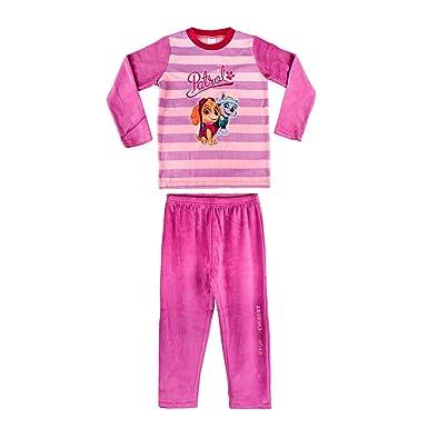 c19eb8461b3e5 896998 Pyjama Enfant Fille imprimé Paw Patrol en Polaire Chaude de 3 à 6 Ans  -