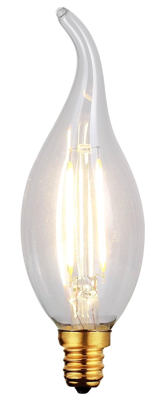 E12 Socket 15,000 Hours LED Vintage Bulb CANARM LTD 2200K Dimmable 300 Lumen 2W B-LCF35-4
