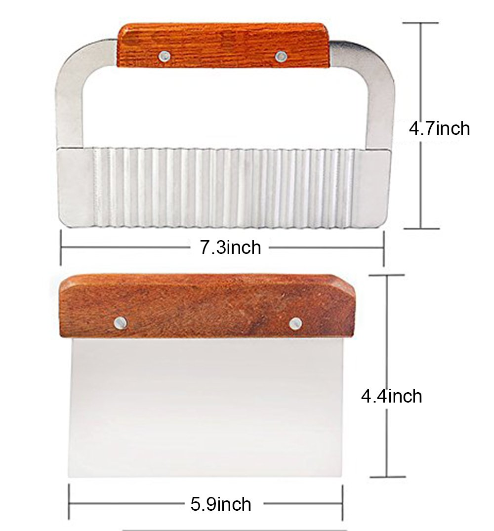 Echodo Adjustable Wooden Soap Loaf Cutter Mold + Rectangle Handmade Silicone Soap Mould with Wood box + 2pcs Wavy & Straight DIY Making Loaf Garnish Cake Soap Cutter by Echodo (Image #5)