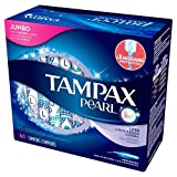 Tampax Pearl Tampons, Unscented, Lite Absorbency, 50 Ct