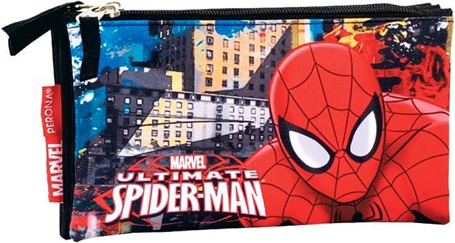 Spiderman- Estuche portatodo Triple Plano,, 22 cm (Montichelvo 54298): Amazon.es: Juguetes y juegos