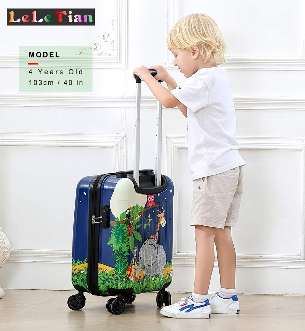 Boys Luggage Anti-scratch Suitcase 19in Hardshell Spinner Carry on PC+ABS Elephant LeLeTian by LeLeTian (Image #2)