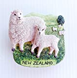 Magnetic Memo Holder Magnet 3D Resin Collectibles Souvenir (Sheep New Zealand)