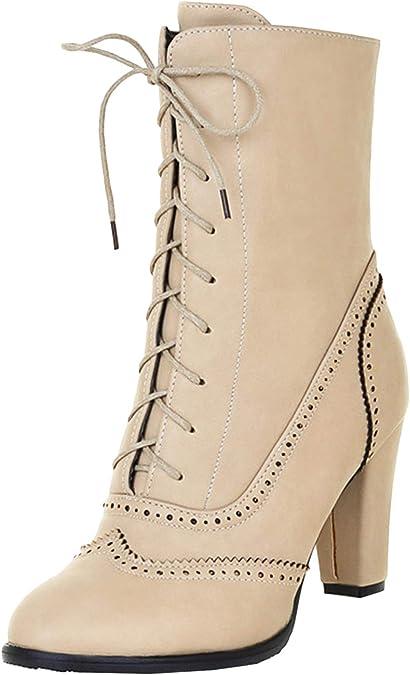 Hiver Bottes Plateau Scothen Chaussures Rivets Femme Automne OXTwPkuZi