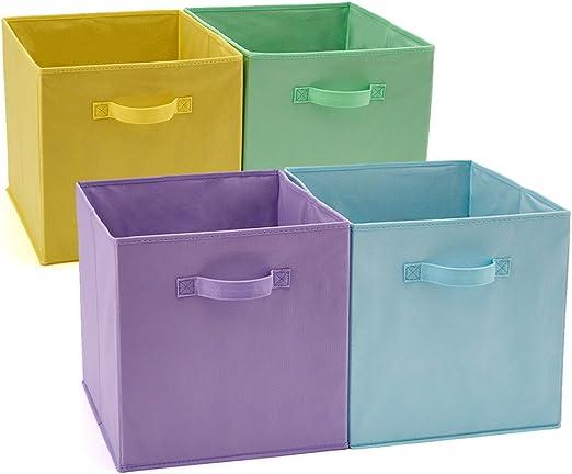 EZOWare Caja de Almacenaje x 4 Unidades, Almacenaje Juguetes, Caja ...