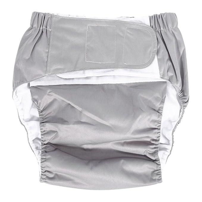 8 opinioni per Mutandine/pannoloni per incontinenza di adulti anziani, regolabili, in tessuto