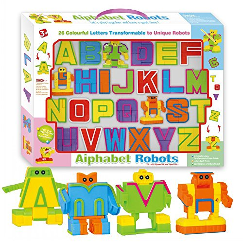 Cyeah Alphabet Robot Toys for Preschool Kids Education 26 Pieces