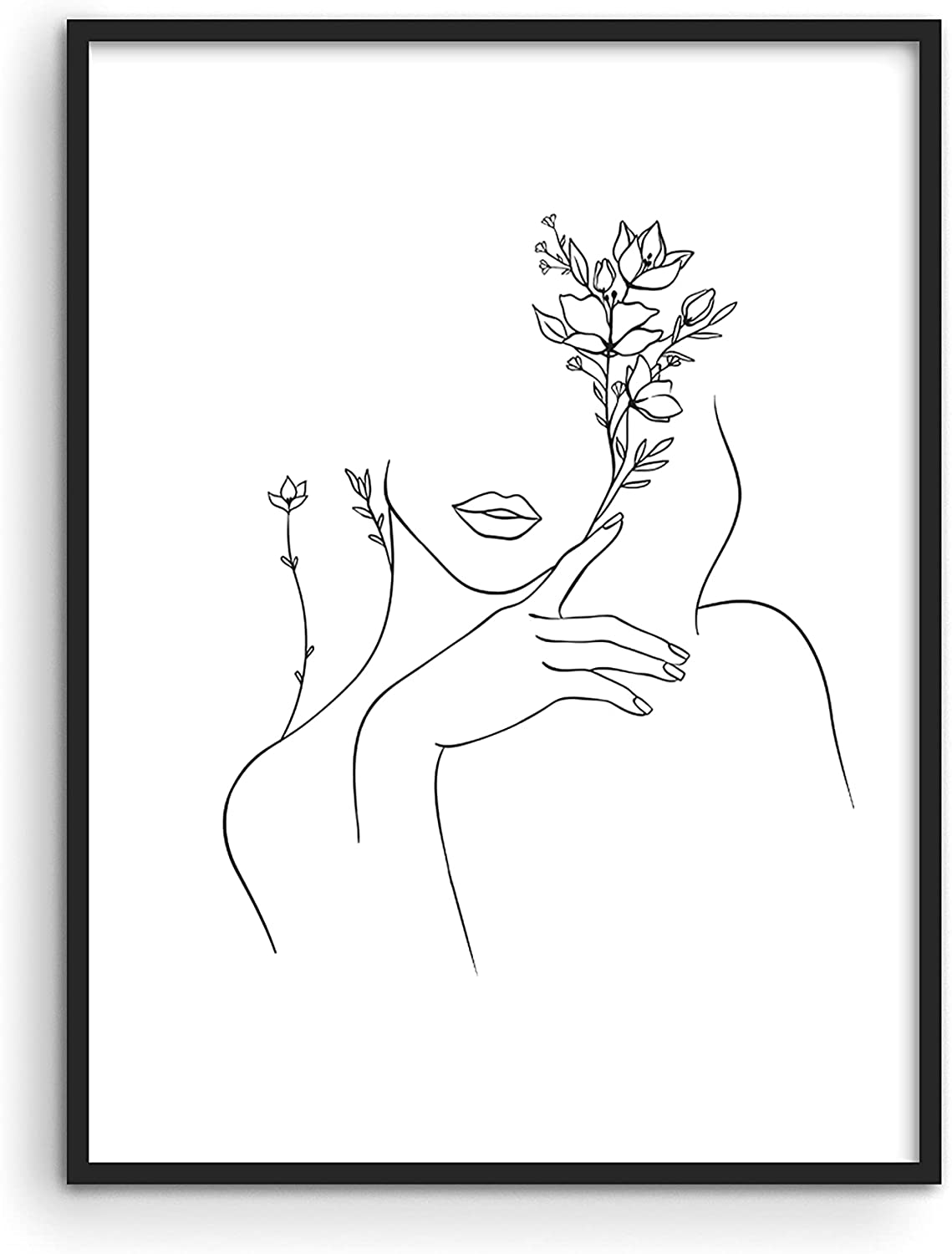 """Black and White Prints Line Art - By Haus & Hues 