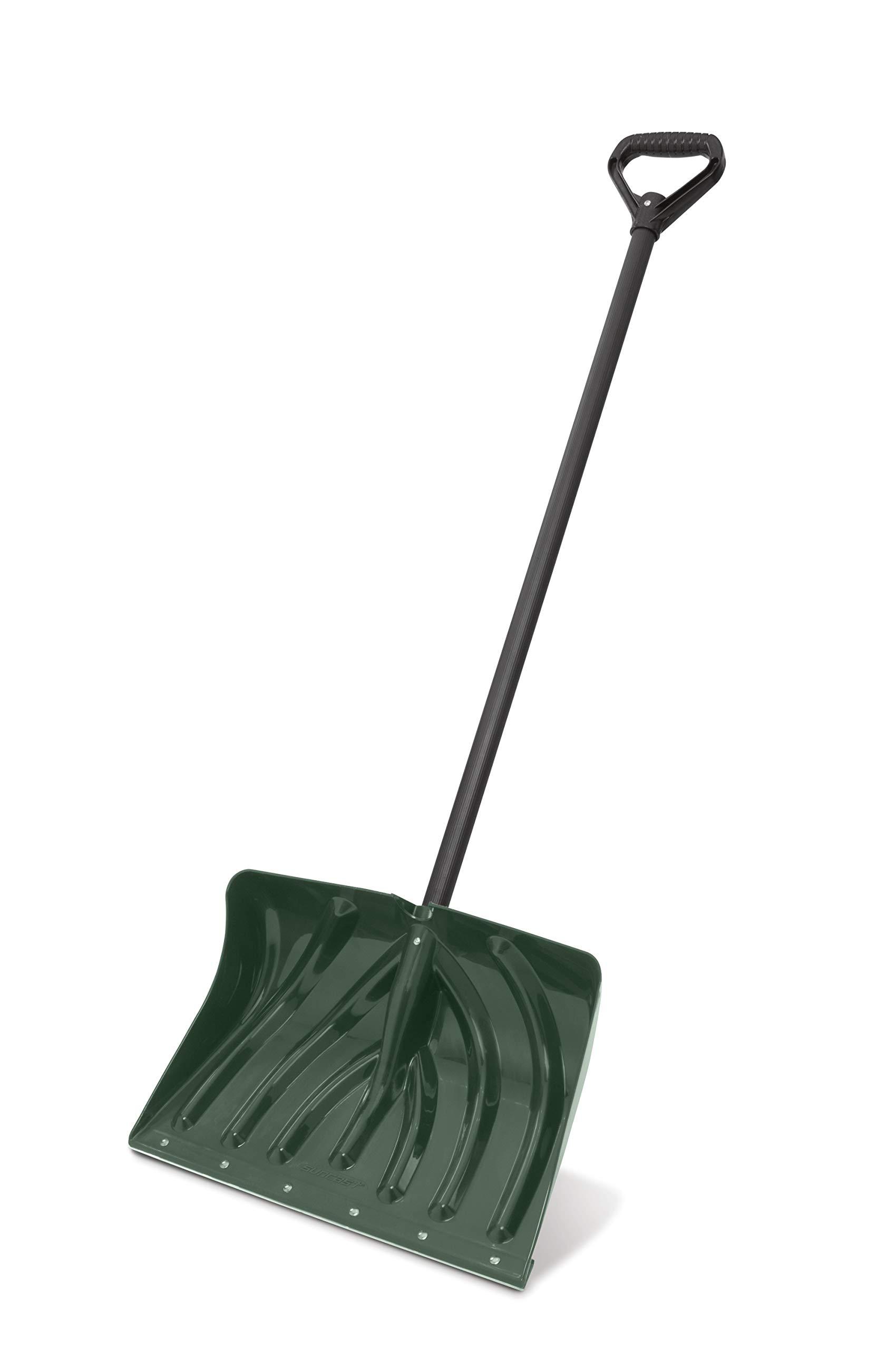 Suncast SC1350 18-Inch Snow Shovel/Pusher Combo with Wear Strip, Green by Suncast