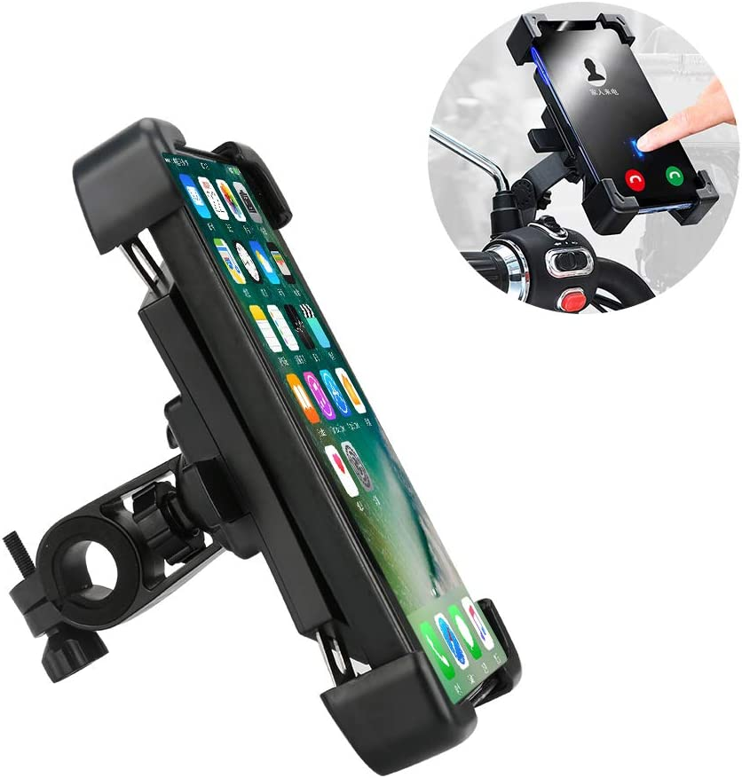 BicycleStore 360/° Rotation Truactive Bike Phone Mount Universal Spin Bicycle Smartphone Stand Compatible with 4.5 to 7.2 Inches Phones with Stainless Steel Clamp Arms Bike Cell Phone Holder
