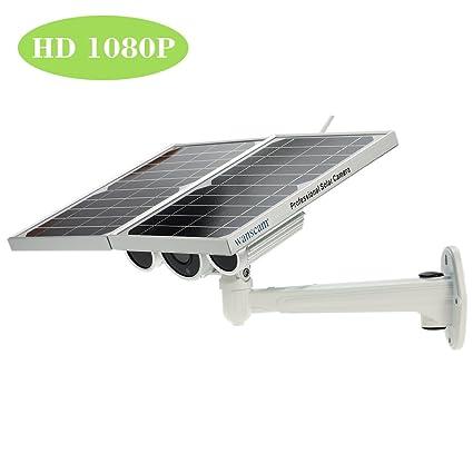 Wireless1080P energía Solar con Pilas WiFi Red cámara IP Starlight visión Nocturna Seguridad al Aire Libre