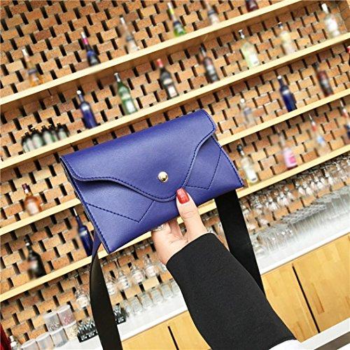 Color Femme Sac Toile Poitrine Splice Femme Main Pliable Pure Des Sac Femmes beautyjourney Sac Messenger à Main à Sac Cuir BandoulièRe Bleu à Main Sac à De w6zXAqa