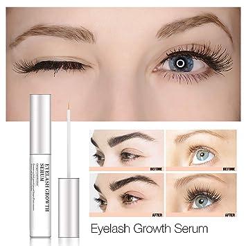 19449e84492 Eyelash Enhancer Serum, Eyelash & Brow Growth Serum Natural Super Beauty Eyelashes  Liquid for Longer