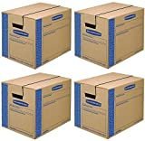 Bankers Box SmoothMove Prime Moving Boxes, Tape-Free and Fast-Fold Assembly, Small, 16 x 12 x 12 Inches, 15 Pack (0062711) (4 X 15 Pack)