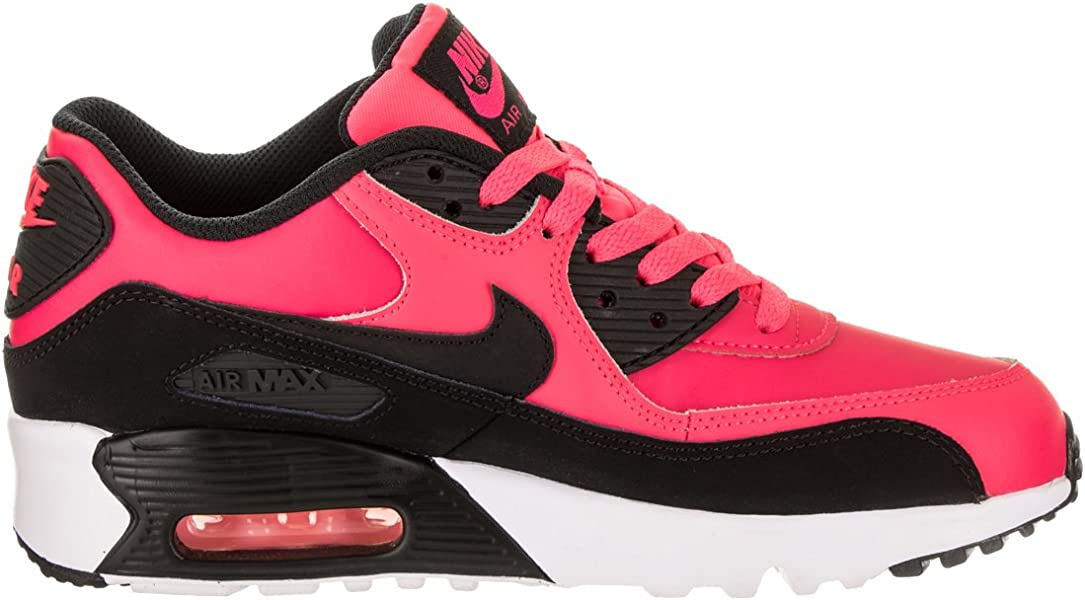 lowest price edcb8 247bc Air Max 90 LTR Big Kid s Shoes Racer Pink Black White 833376-600. Back.  Double-tap to zoom