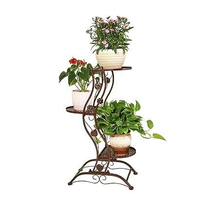 Amazon.com: Soporte de hierro forjado con diseño de flores ...
