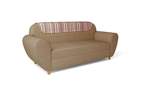Godrej Interio Petal Three Seater Sofa Matte Finish Sand Beige