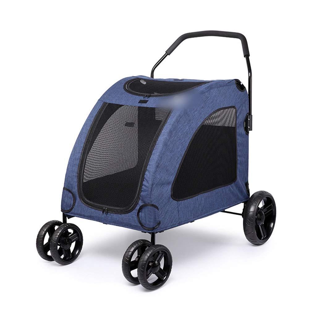 bluee 80x64x64CM bluee 80x64x64CM Vfdsvbdv DODOPET Large Dog Pet Stroller Giant Dog Injured Dog Multiple Pets Apply Factory Spot (color   bluee, Size   80x64x64CM)