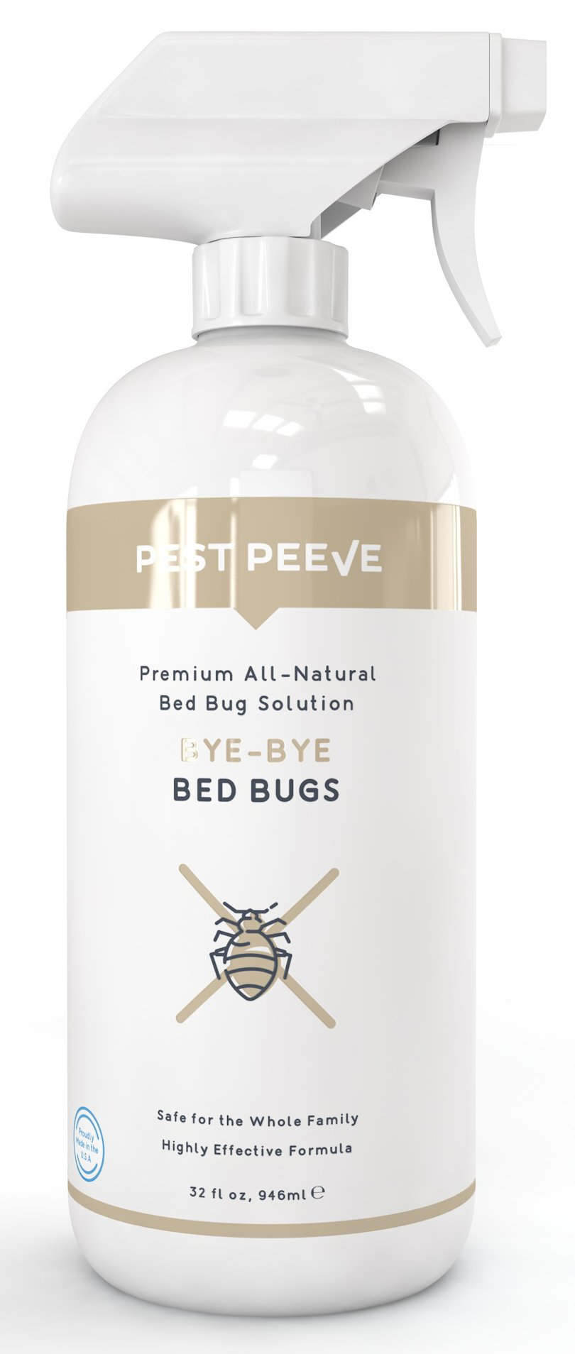 Bye-Bye Bed Bugs - Powerful, Natural Bedbug Killer Spray - Home Defense Treatment - Eco-friendly and Safe for the Family (32 oz) Review