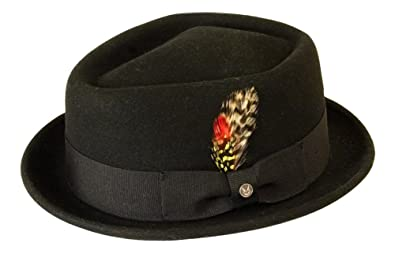 Gamble   Gunn  Orleans  Black Diamond Top Porkpie Hat 711b9b21739d