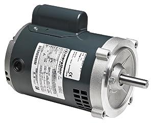 Marathon 56S34D2000 Oil Burner Motor, 1 Split Phase, Open Drip Proof, C-Face, Ball Bearing, 1/4 hp, 3600 RPM, 1 Speed, 115 VAC, 56C Frame