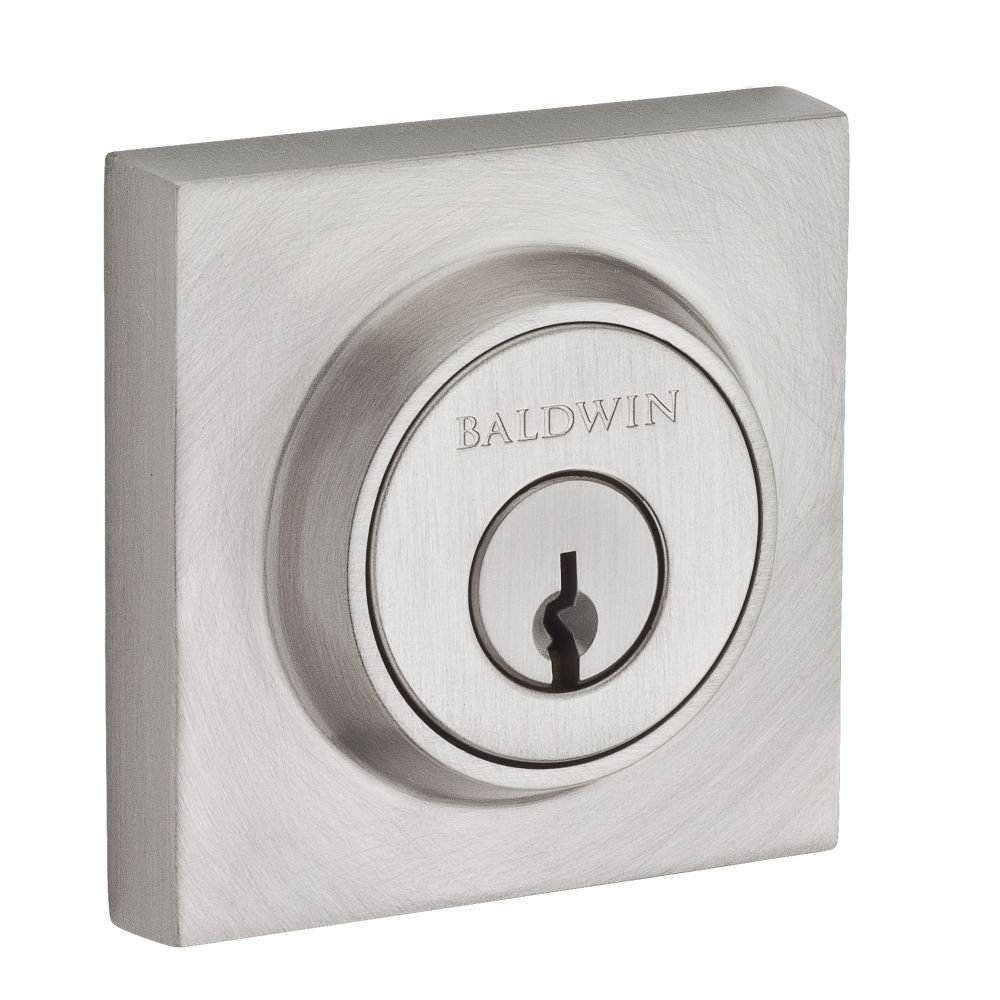 Baldwin SCCSD150 Reserve Single Cylinder Contemporary Square Deadbolt in Satin Nickel Finish