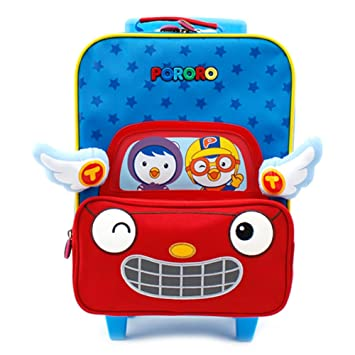 65c72c34b354 Amazon.com: Small Rolling Luggage Roller Travel Bag for Kids ...