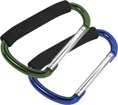 2x Aluminum Carabiner Heavy-duty Large Spring Snap Hook Keyring Cushion Grip