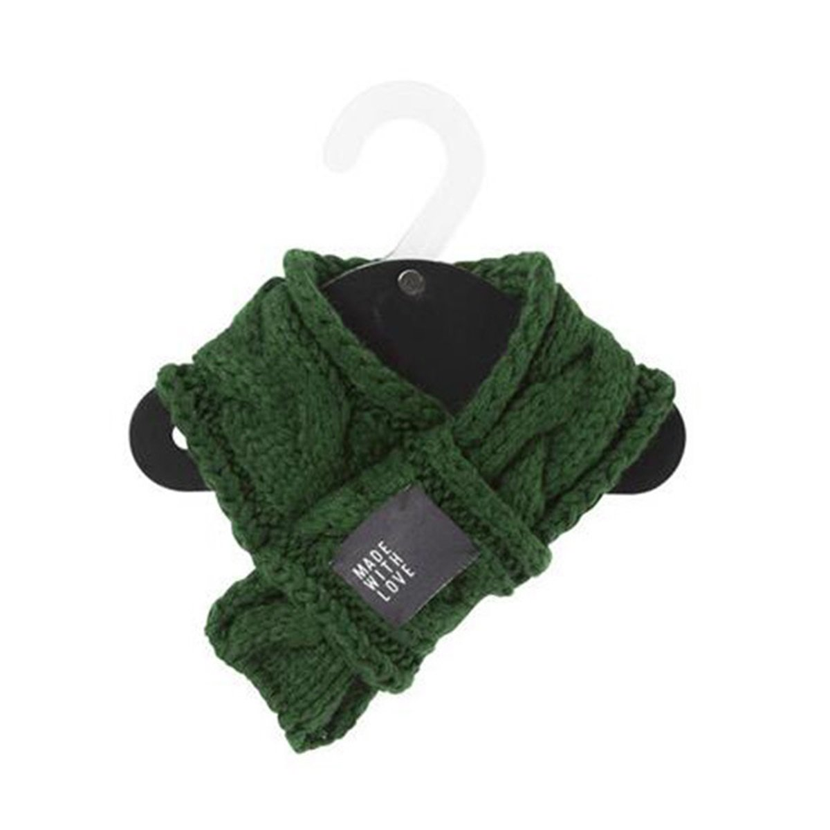 Green M Green M PetBoBo Pet Dog Cat Costume Apparel Winter Scarf for Dogs (M, Green)