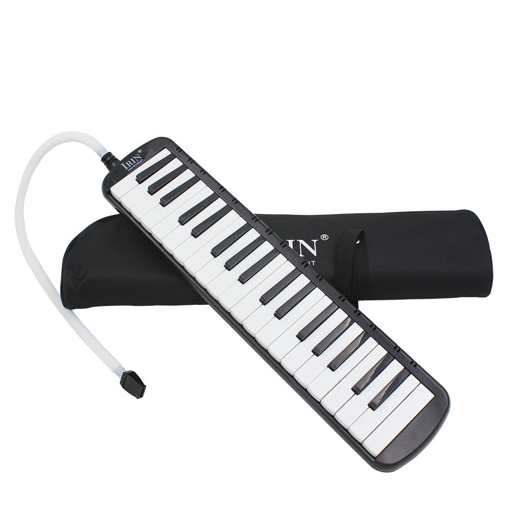 IRIN 37 Keys Melodica Musical Instrument for Music Lovers Gift with Carrying Bag (Black)