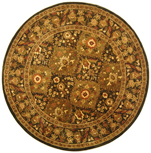 Safavieh Antiquities Collection AT57C Handmade Traditional Oriental Olive Wool Round Area Rug (3'6